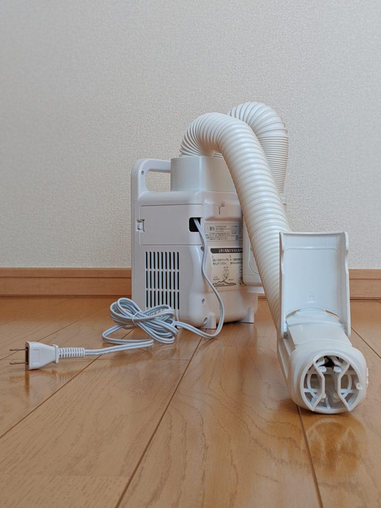 アイリスオーヤマ 布団乾燥機 カラリエ 温風機能付 マット不要 ツインノズル 布団2組・靴2組対応 ホワイト FK-W1 展開
