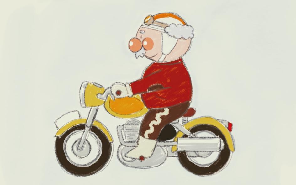 ジャムおじさんのバイク