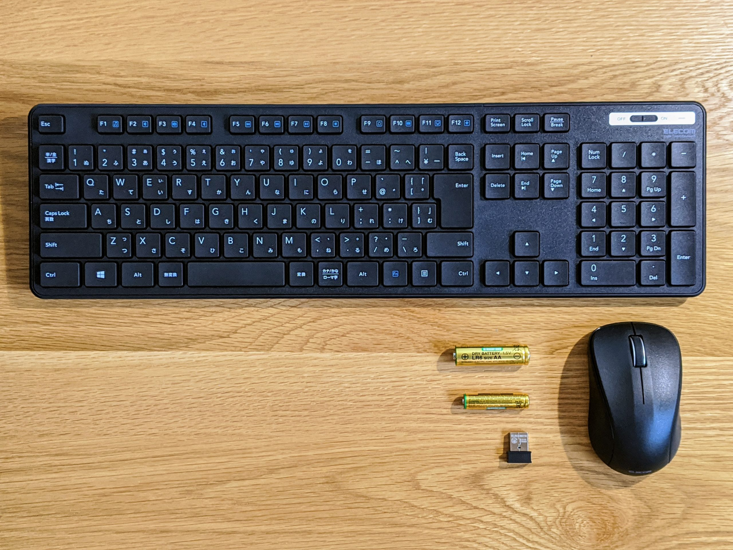 エレコム ELECOM TK-FDM110MBK 無線キーボードと無線マウス