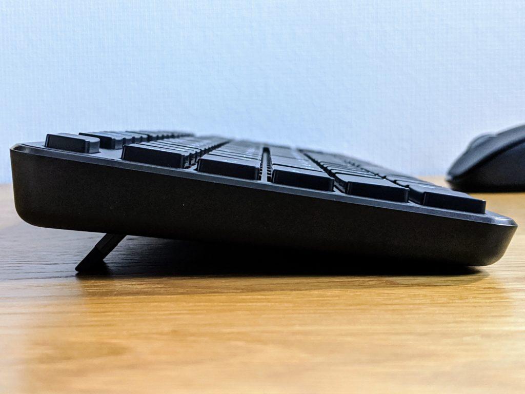 エレコム ELECOM TK-FDM110MBK 無線キーボード 横から