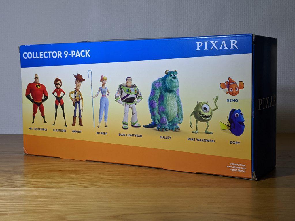 ディズニー/ピクサー マイクロコレクション ミニフィギュア 9パックセット 外箱 裏面